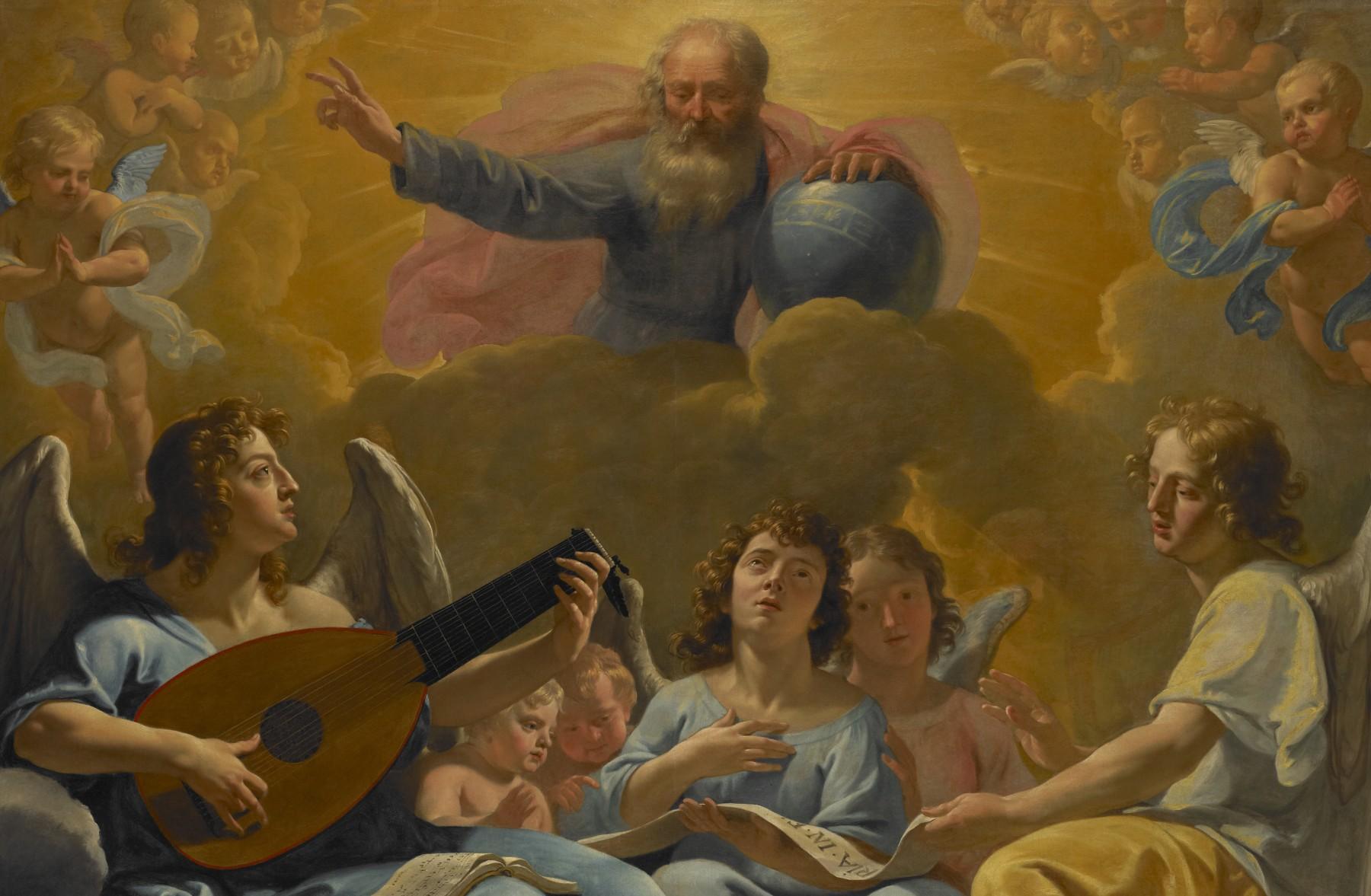 Dieu le père créant l'univers matériel de Ph. De Champaigne © C. Lancien, C. Loisel /Réunion des Musées Métropolitains Rouen Normandie